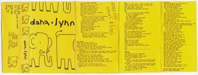 Dana Lynn - demo tape - sleeve