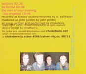 Strange Lines - CD back cover